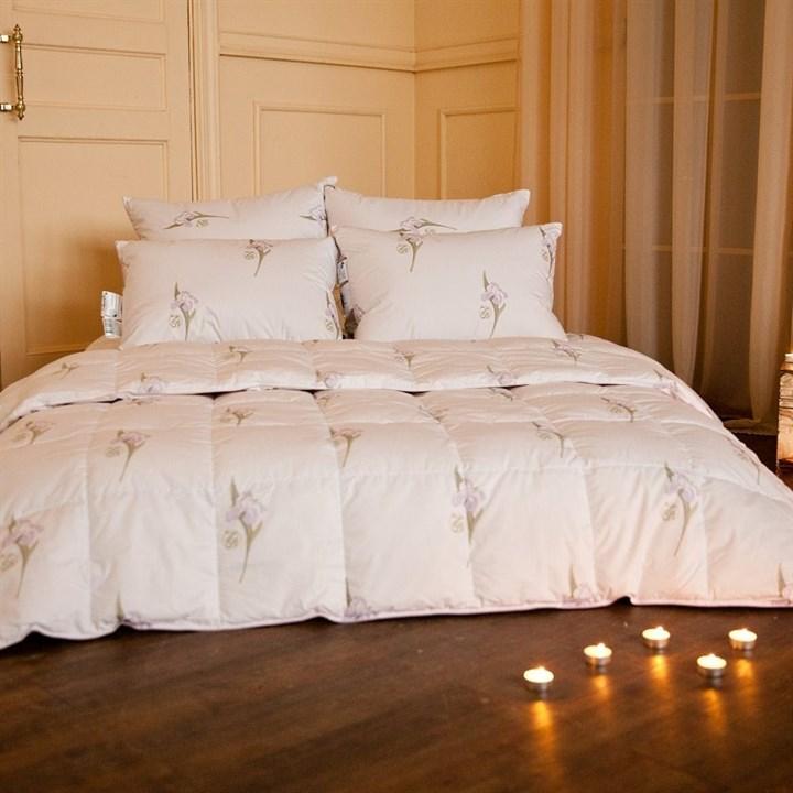 Одеяло пуховое Natures Царственный Ирис 150х200 зимнее - фото 13810
