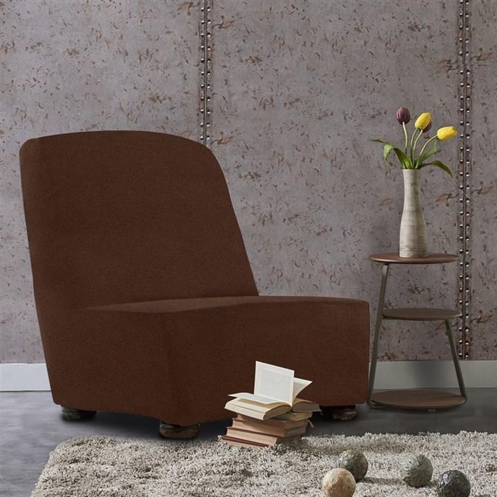 АЛЯСКА МАРОН Чехол на кресло без подлокотников от 70 до 110 см - фото 13961