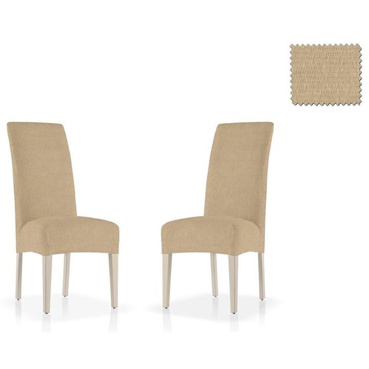 ТЕЙДЕ БЕЖ Чехлы на стулья со спинкой (2 шт.) - фото 14075