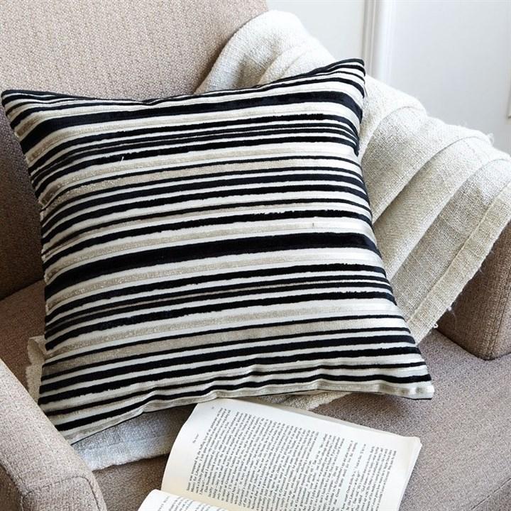 Наволочка декоративная Asabella D3-9 бежево-черный - фото 16601