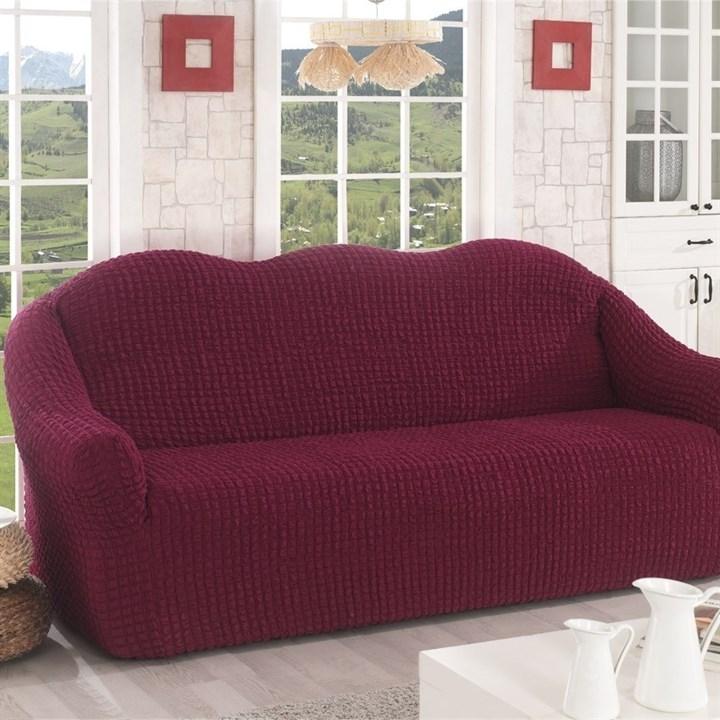 BORDO Чехол на 3-х местный диван от 170 до 240 см бордовый - фото 19780