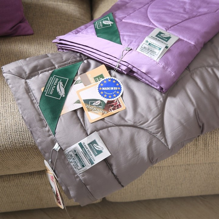 Одеяло Flaum Farbe 200х220 легкое серое - фото 20967