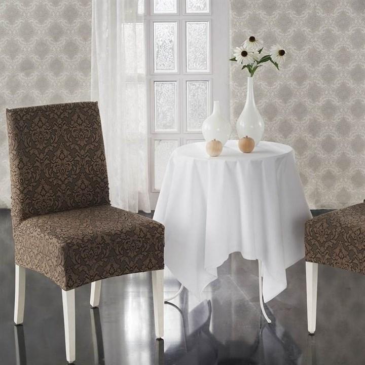 MILANO BRAUN Чехлы на стулья со спинкой (2 шт.) коричневые - фото 23102