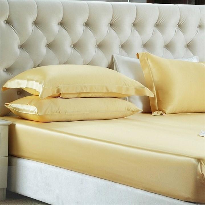 Шелковая простыня на резинке Luxe Dream Золото 180х200 - фото 25163