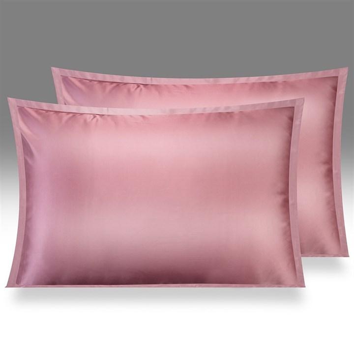 Шелковая наволочка OnSilk Shine 50х70 дымчато-розовая - фото 25290