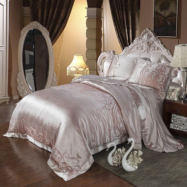 Шелковое постельное белье Флер Exlusive евро - фото 26850