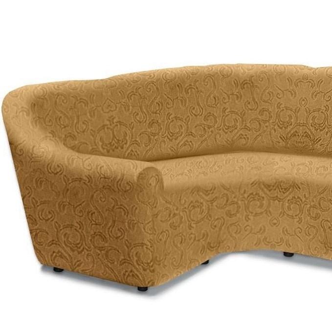 БОСТОН БЕЖ Чехол на классический угловой диван от 320 до 480 см левосторонний - фото 26857