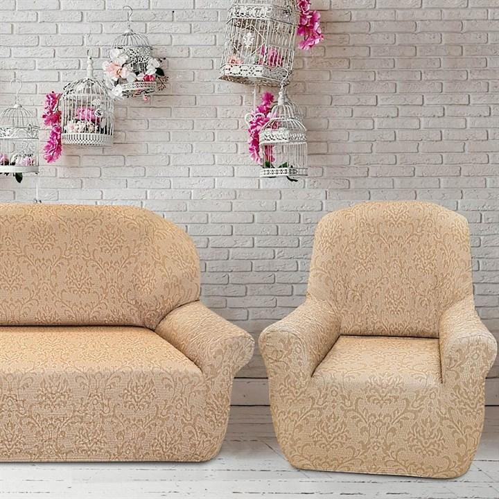 БОГЕМИЯ МАРФИЛ Комплект чехлов на диван и 2 кресла - фото 32457