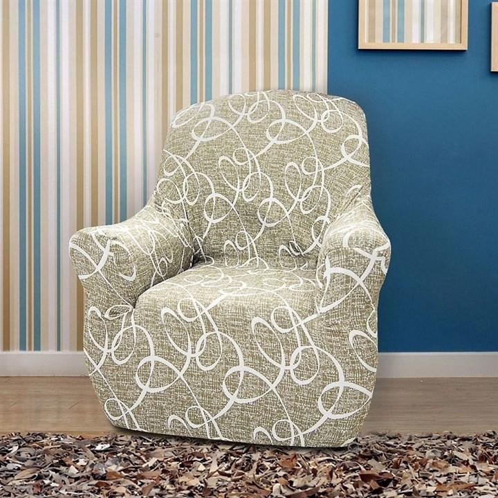 ПЕРСИЯ ВИСОН Чехол на кресло от 70 до 110 см - фото 36281