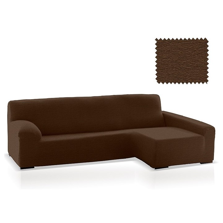 ТЕЙДЕ МАРОН Чехол на угловой диван с оттоманкой и длинным подлокотником справа - фото 36376