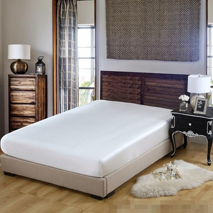 Шелковая простыня на резинке Luxe Dream Айвори 160х200 - фото 39948