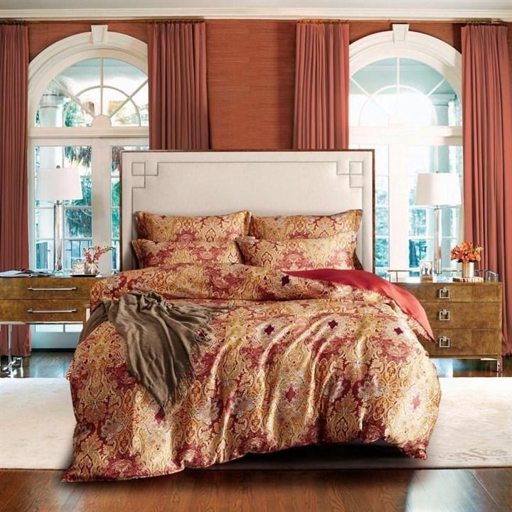 Шелковое постельное белье Люсьенж евро - фото 40872