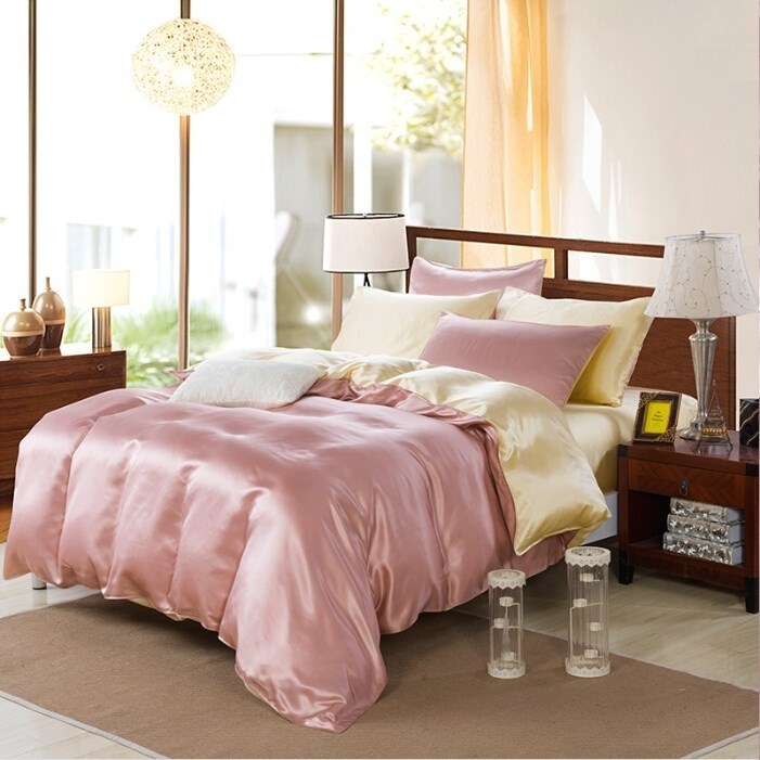 Шелковое постельное белье Elite Creme-Gold 2-спальное - фото 40993
