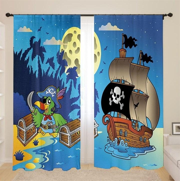 Фотошторы детские 3D Пираты - фото 43193