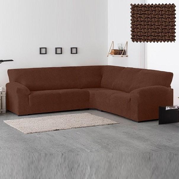 АЛЯСКА МАРОН Чехол на классический угловой диван от 270 до 480 см универсальный - фото 43368