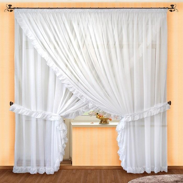 Готовые шторы Мила белые