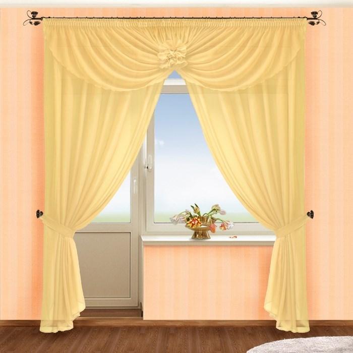 Готовые шторы Жоржетта крем