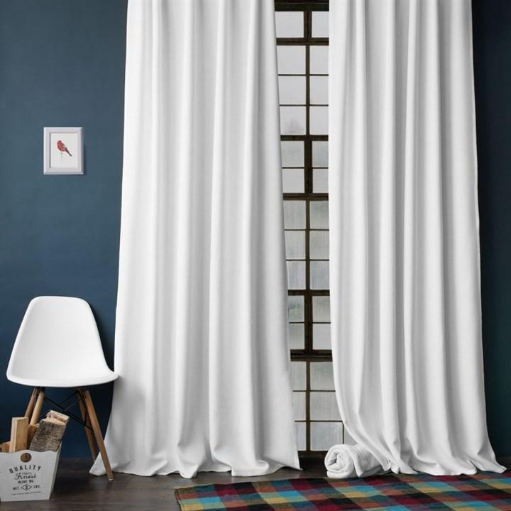 Комплект штор Pasionaria Джерри белый (шир. 140) с подхватами - фото 87306
