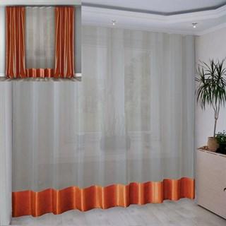 Портьера Шарлиз оранжевая