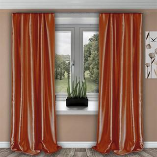 Готовые шторы Шарлиз оранжевые