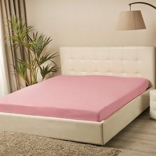 Простыня трикотажная Violett на резинке 180х200 розовая