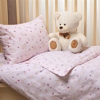 Комплект в кроватку Li-Ly Мишка розовый