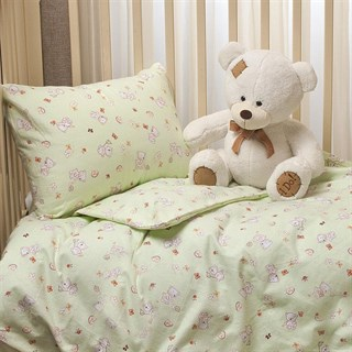 Комплект в кроватку Li-Ly Мишка зеленый