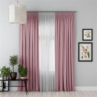 Комплект штор Pasionaria Блэкаут розовый (шир. 170) с вуалью и подхватами