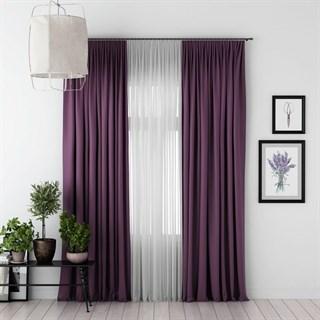 Комплект штор Pasionaria Блэкаут фиолетовый (шир. 170) с вуалью и подхватами