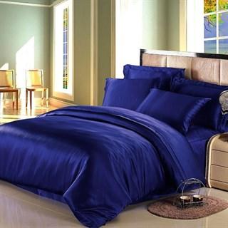 Шелковое постельное белье Navy Blue евро