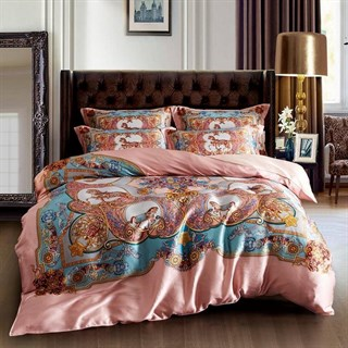 Шелковое постельное белье Stephanie евромакси