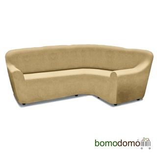 ГАЛАНТ БЕЖ Универсальный чехол на угловой диван от 380 до 500 см