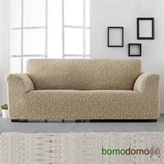 ЛЮКС-2 БЕЖ Чехол на 4-х местный диван от 230 до 270 см