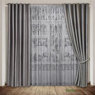 Готовые шторы Мрамор серебристо-серые