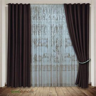 Готовые шторы Мрамор коричневые