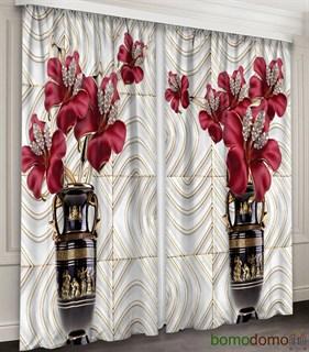 Фотошторы 3D Драгоценные цветы