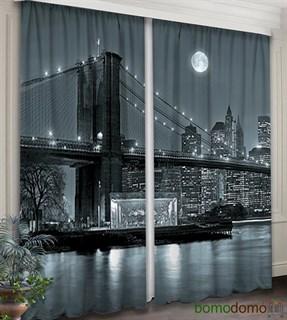 Фотошторы 3D Бруклинский мост