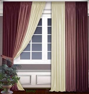 Комбинированные шторы Софт Бордо
