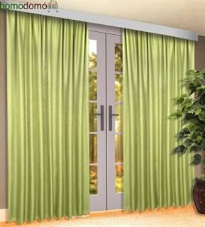 Готовые шторы Блэкаут Ава светло-зеленые