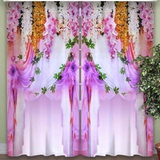 Фотошторы 3D Экзотические Цветы сиреневые