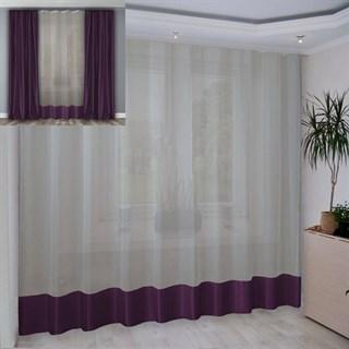 Портьера Шарлиз фиолетовая