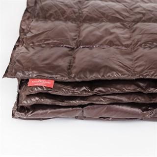 Одеяло пуховое Kauffmann Travel plaid Dark brown 140х200 легкое