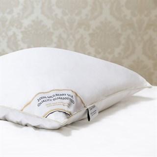 Подушка шелковая 70х70 1,5 кг Luxe Dream Premium Silk collection средняя (высота 16 см)