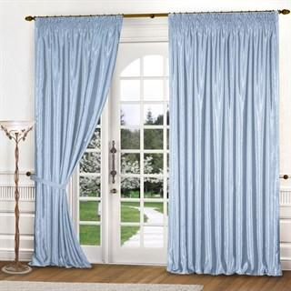 Готовые шторы Эмилия голубые