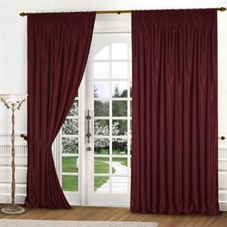 Готовые шторы Эмилия бордовые