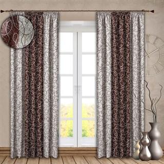 Комбинированные шторы Блэкаут Алисия темно-коричневые
