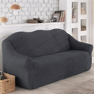 DARK GREY Чехол на 2-х местный диван от 120 до 170 см графитовый