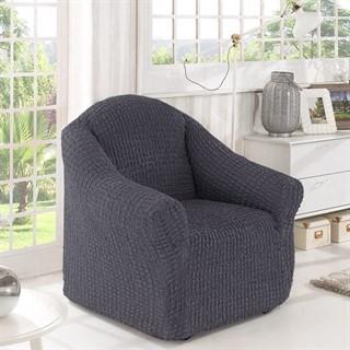DARK GREY Чехол на кресло от 70 до 120 см графит