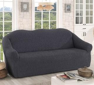 DARK GREY Чехол на 3-х местный диван от 170 до 240 см графит