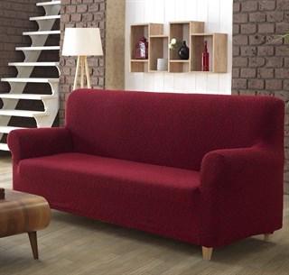 MILANO BORDO Чехол на 2-х местный диван от 130 до 170 см бордовый
